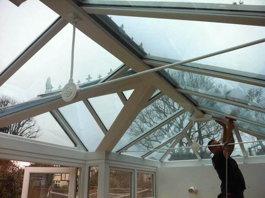 conservatory glass roof film