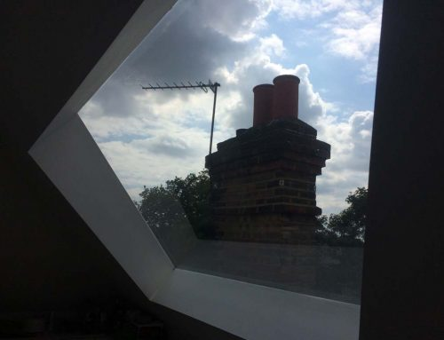 Case study for trapezoid shaped window in kitchen  in west London