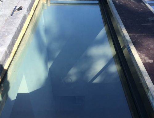 Exclusive 70 installed externally to high level roof light in Putney, south London.