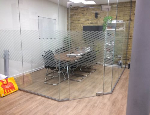 Diagonal band manifestation design for an office in the Hop Exchange,Borough,South London