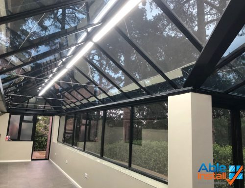 Super Shade 20 installed to roof and Super Shade 35 to vertical glazing installed to reduce heat and glare and also for the protection of furniture from UV