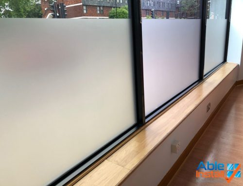 Crystalline privacy film installed to a set height to provide diners at central london restaurant a more exclusive dining experience