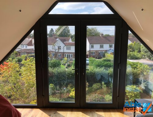 Super Shade 50 installed to loft conversion bay window in Reigate, Surrey