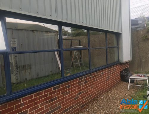External S.E.R.F. 20 installed to factory windows in sutton,surrey